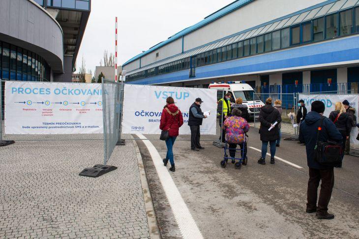 V bratislavskom NFŠ zaočkovali dosiaľ najviac ľudí za deň